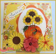 Sunflower arrangement, Digital Delights image by Craftin' Suzie: Delightful Thursday