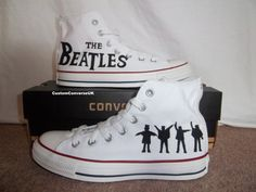 I found 'The Beatles Converse All Stars by CustomConverseUK on Etsy' on Wish, check it out!Elyzia loves the Beatles All Star Shoes, Converse All Star, Converse Shoes, White Converse, The Beatles, Cute Shoes, Me Too Shoes, Custom Converse, Accessories