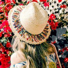 Womens Tassel Bohemian Raffia Straw Fedora Trilby Hat Summer Beach Sun Wide Cap for sale online Boho Hippie, Floppy Sun Hats, Straw Hats, Straw Fedora, Korean Summer, Holiday Hats, Summer Hats For Women, Trilby Hat, Fashion Night