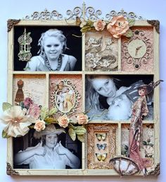 A Ladies Diary Altered Art Home Decor Gift by Karen Shady. Amazing!  #graphic45 #alteredart