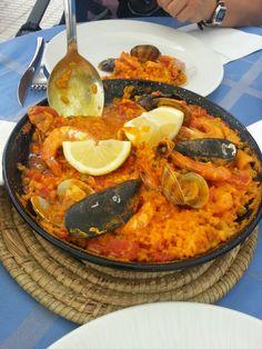 Paella, Spain of course Comillas! Delicious