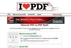 Ilovepdf.com Mesclar ou Dividir Arquivos PDF Grátis