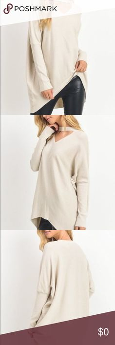 ✨Coming Soon✨Sweater top with key hole neck Mock-neck sweater top with key hole neck line. Soft natural Ivory color, perfect fit for your fall wardrobe! Sizes: SM or ML Jodifl Sweaters