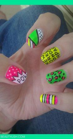 neon nails | Alexis C.'s (glittertips) Photo | Beautylish