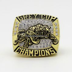 1999 BC Lions The 87th Grey Cup Championship Ring. Best gift from www.championshipringclub.com for BC Lions fans. You can custom your   ring now. Canadian Football League, Grey Cup, Championship Rings, Luxury Watches For Men, Lions, Best Gifts, Jewelry, Jewels, Schmuck