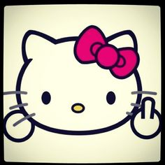 Hello Kitty says f* you