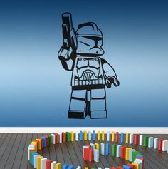 CLONE TROOPER lego star wars character 600mm x 347mm by NSVINYLS