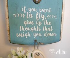 This is one of the new pieces of wall decor I have in my farmhouse style bathroom makeover. It's vintage. It's pretty. And it's useful, too! Bathroom decor at i…