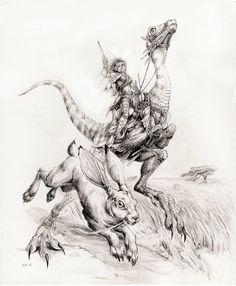 Dinosaur Rider by megamoth.deviantart.com on @deviantART