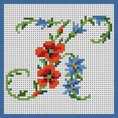Floral Alphabet - K