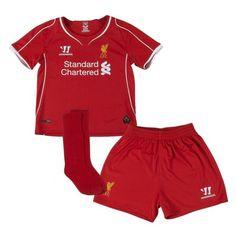 38ddea1b06794 Liverpool Warrior home red full childrens football shirt kit set 2014-15  18-24 m