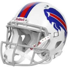 NFL Buffalo Bills Speed Authentic Football Helmet by Riddell. $229.42. Collectible, not to be worn for play.. Great for autographs.. Available in official team colors and decals.. With its new distinctive shell design, the Speed helmet is being adopted by premier athletes at a furious pace.. Large shell, aggressive facemask, authentic internal padding, and 4-point chinstrap.. The Speed Authentic Helmet is the ultimate Buffalo Bills fan collectible helmet.  With a n...