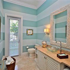 beach bathroom - seashell mirror!