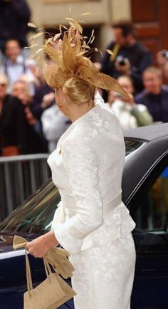 Princess Máxima, June 12, 2004 in Fabienne Delvigne | Royal Hats....Christening of Princess Amalia, Ten Years Later.....Posted on June 26, 2014 by HatQueen