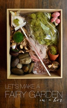 My niece's birthday was in May and Avy Gravy and I were itching to make a Fairy Garden kit for someone and she was the perfect candidate! Fairy Garden Plants, Fairy Garden Houses, Fairy Gardening, Fairies Garden, Kids Gardening Kit, Gardening Tools, Glass Garden, Garden Birthday, Fairy Birthday Party