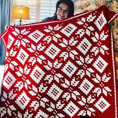 How to Crochet Corner to Corner Snowflake Blanket with Marly Bird.