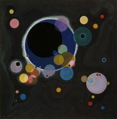 Vasily Kandinsky, Several Circles, January–February 1926. Oil on canvas, 55 1/4 x 55 3/8 inches (140.3 x 140.7 cm)