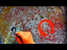 ▶ Эбру - краски на воде. Новогоднее водное шоу - YouTube