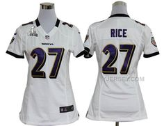 http://www.yjersey.com/nike-ravens-27-rice-white-women-game-2013-super-bowl-xlvii-jersey-cheap.html Only$36.00 #NIKE RAVENS 27 RICE WHITE WOMEN GAME 2013 SUPER BOWL XLVII JERSEY #CHEAP Free Shipping!