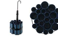 Porta guarda-chuvas com tubos, pode ser feito de tubos de PVC