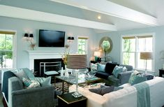 contemporary living room by Mary Prince. Designer Stacy Curran.