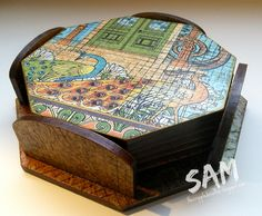 The Crippled Crafter: MDF Coaster Set - That Craft Place & Graphic 45