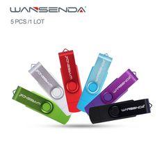 5pcs/1Lot Original Wansenda USB2.0 OTG USB flash drive for Smart Phone Tablet PC 4GB 8GB 16GB 32GB 64GB Pendrives free package