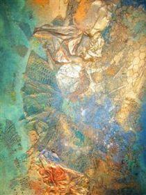 Bettina Bradt Collage on canvas