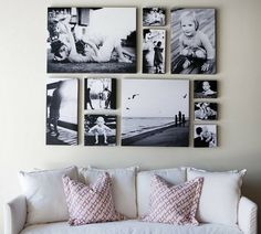 picture wall, Interior Design Ideas, going to have this in mine & my boyfriends apartment