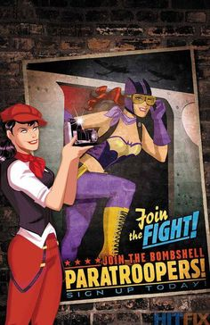 Batman/Superman #23 Bombshell variant cover by Des Taylor.