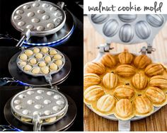 Walnut Cookies - walnut shaped cookies filled with a delicious walnut and Nutella filling. Festive, delicious and so adorable. Shaped Cookies Recipe, Walnut Nuts, Cookie Bakery, Jo Cooks, Walnut Cookies, Sandwich Cookies, Nutella, Cookie Recipes, Festive