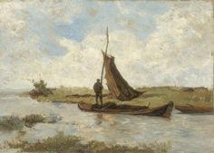 Paul Joseph Constantin Gabriël - Landschap met schuitje
