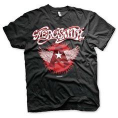 Aerosmith - Flying A Logo heren unisex T-shirt zwart - Band merchandi