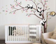 Pandas et sticker mural arbre
