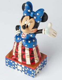 Jim Shore Star Spangled Minnie Mouse Figurine 4038486 Disney Patriotic USA New