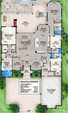 29 ideas for split level remodel open concept house plans One Level House Plans, Dream House Plans, House Floor Plans, Dream Houses, One Level Homes, Sims House Plans, The Plan, How To Plan, Split Level Remodel