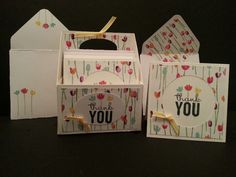 Adorable 3 x 3 note cards, matching envelopes and box.