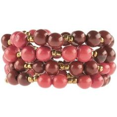 Colorblock Rope Bracelet - Burgundy and Coral - Faire Collection