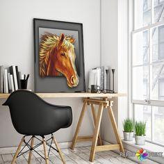 Baby Foal Print, Printable Horse Poster, Modern Minimalist Nursery Wall Art Print, Cute Nursery Animal Art, Digital Download, Baby Room Art