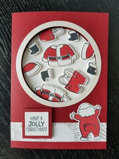 65 Ideas Diy Christmas Cards Santa Stampin Up For 2019 Christmas Cards 2017, Stampin Up Christmas, Xmas Cards, Kids Christmas, Holiday Cards, Christmas Treats, Santa Suits, Winter Cards, Homemade Cards