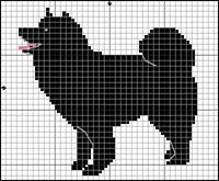 Svensk Lapphund Cross Stitch Charts, Cross Stitch Patterns, Dog Chart, Animal Skeletons, Pet 1, Puppy Day, Fillet Crochet, Dog Pattern, Cross Stitch Animals