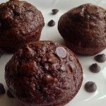 Double Chocolate Zucchini Muffins ~ I will make these using a mix of whole wheat flour and oat flour, sub the amount of sugar for 1/2 honey and 1/2 evaporated cane juice sugar, and will use dark cocoa powder with cacao nibs instead of chocolate chips.