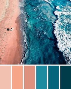 Find color inspiration ideas for your home. Peach and teal color palette , ocean inspired bedroom color Find color inspiration ideas for your home. Peach and teal color palette , ocean inspired bedroom color Color Schemes Colour Palettes, Blue Colour Palette, Bedroom Color Schemes, Beach Color Palettes, Beach Color Schemes, Color Blue, Good Bedroom Colors, Bed Room Color Ideas, Color Combinations