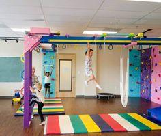 Cool Girl Bedrooms, Kids Bedroom, Bedroom Ideas, Kids Gym Equipment, Gymnastics Equipment, The Fun Factory, Sensory Rooms, Gym Room, Play Gym