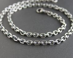 89 best mens silver necklaces images on pinterest mens chunky silver chain necklace mens large by lynntodddesigns aloadofball Image collections