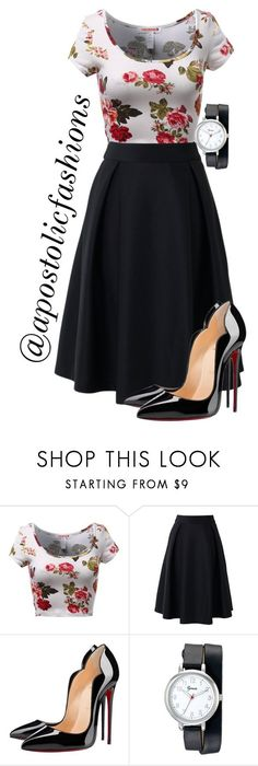 """Apostolic Fashions #1533"" by apostolicfashions ❤ liked on Polyvore featuring Chicwish, Christian Louboutin, Geneva, modestlykay and modestlywhit"