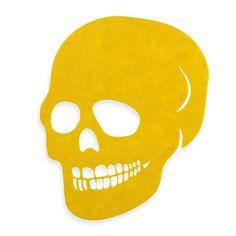 Felt Skull Placemat in Yellow - BedBathandBeyond.com