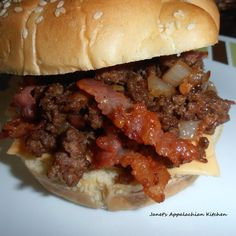 BBQ & Bacon Loose Meat Sandwich