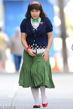 Ugly Betty kindly agreed to help me demonstrate the improper use of every… Patricia Field, Ugly Outfits, Ugly Betty, Fake Friends, New Trends, Frocks, Being Ugly, Lace Skirt, Tutorials