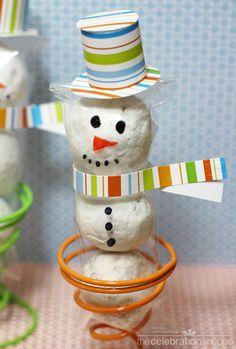 Easy Snowman Treats | full tutorial with TheCelebrationShoppe.com  #disneymoviefrozen #olaf #kimbyers